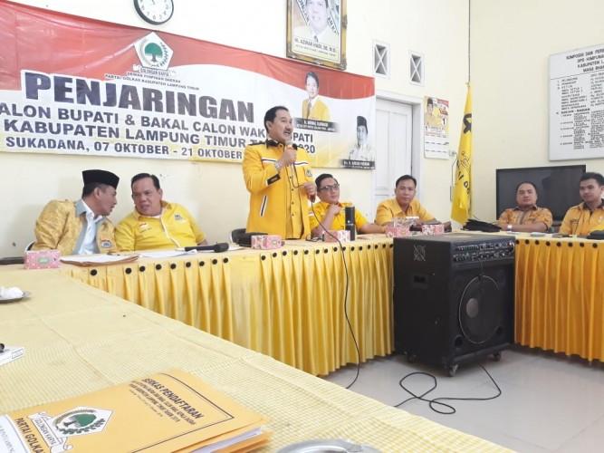 Golkar Lampung Terima Berkas Delapan Calon Kada Lamtim