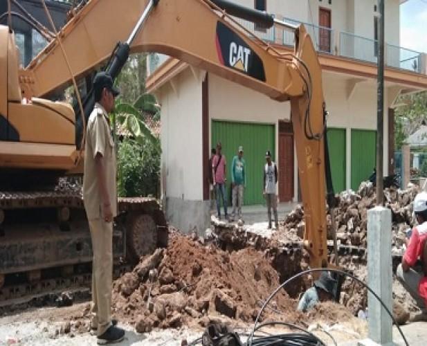 Gorong-gorong Penghubung Dua Kecamatan di Lamsel Diperbaiki