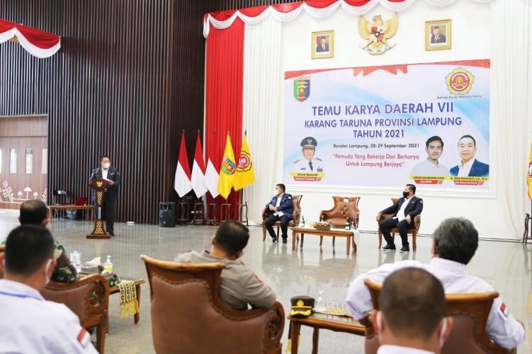 Gubernur Ajak Karang Taruna Lampung Kolaborasi Aneka Program