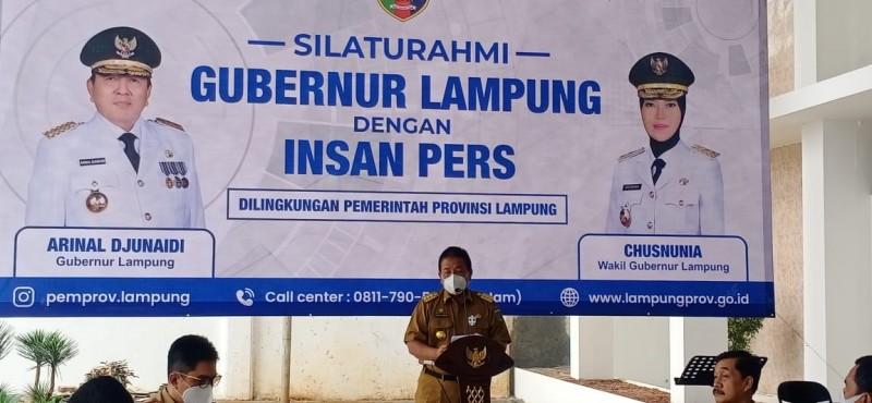 Gubernur Arinal Gelar Silaturahmi Bersama Wartawan