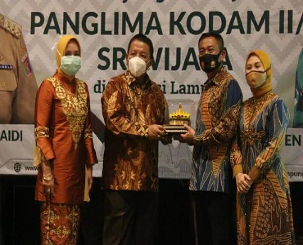 Gubernur Berharap Dukungan Pangdam II/Sriwijaya Bangun Lampung