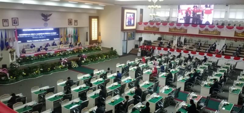 Gubernur dan Wagub Ikut Serta Paripurna HUT RI Ke-76