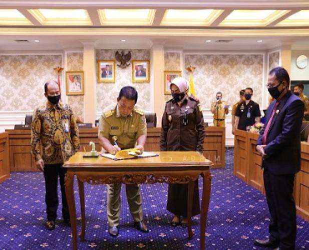 Gubernur, Kajati, dan BPKP Teken Pencegahan Korupsi Dana Covid-19