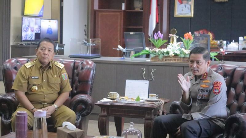 Gubernur-Kapolda Siap Perangi Kejahatan di Lampung