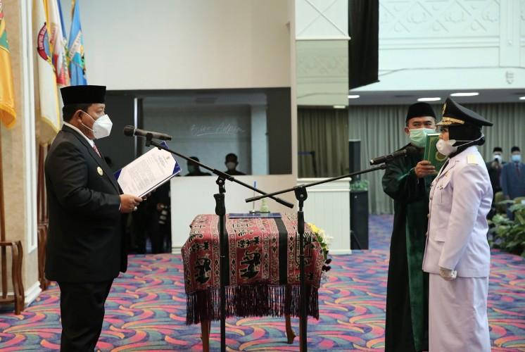 Gubernur Lampung Lantik Haryati sebagai Wakil Bupati Mesuji