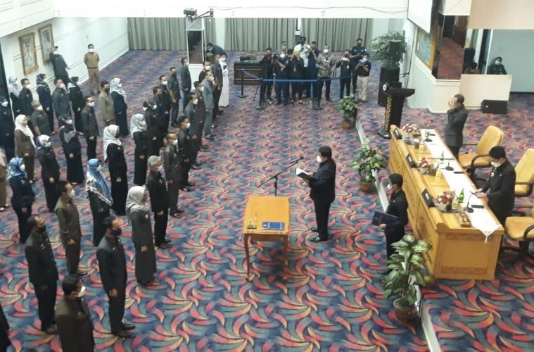Gubernur Lampung Lantik Pejabat Tinggi dan Puluhan Fungsional