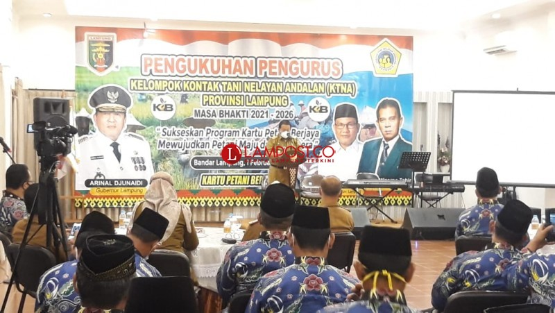 Gubernur Lampung Minta KTNA Bangkitkan Sektor Pertanian