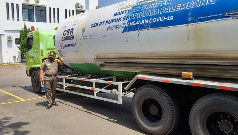 Gubernur Lampung Terima Bantuan 15 Ton Oksigen Cair dari Pusri