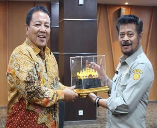 Gubernur Temui Mentan Bahas Pertanian Lampung