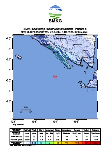 Gempa Magnitudo 5,5 diTanggamus Terasa Hingga Pesawaran dan Pringsewu