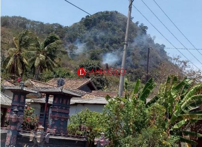 Gunung Pancong Masih Terbakar