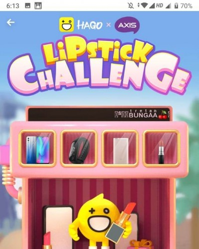 Hago Tawarkan Game Lipstick Challenge Berhadiah