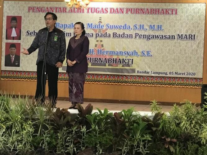 Hakim Pengadilan Tinggi Tanjungkarang Jadi Hakim Utama Bawas MA