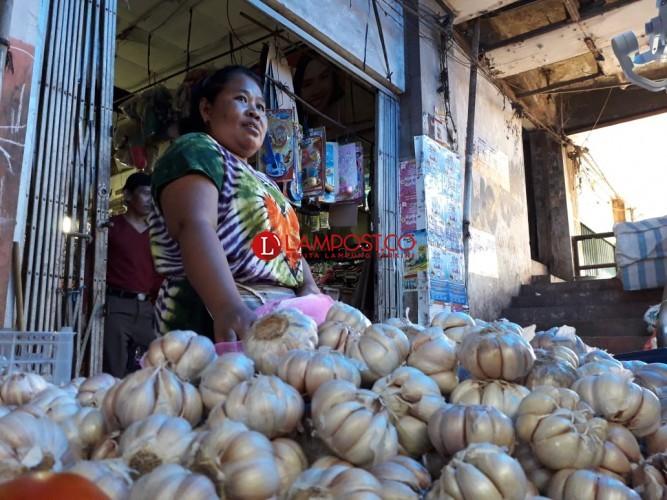 Harga Bawang Putih di Bandar Lampung Menyundul Langit