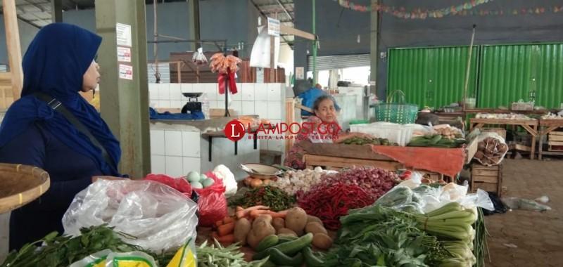 Harga Beragam Sayuran Merangkak Naik di Lamsel