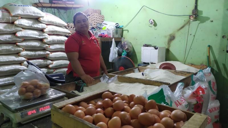 Harga Beras dan Telur di Lamsel Stabil
