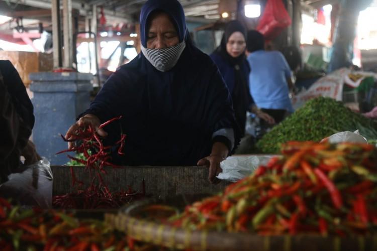 Harga Cabai di Bandar Lampung Anjlok