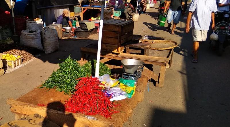 Harga Cabai Merah di Pasar Metro Rp15 ribu/kg