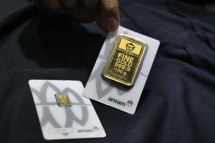 Harga Emas Antam 24 Karat Stagnan di Akhir Pekan