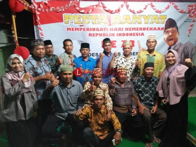 Hari Kemerdekaan, Desa Palaspasemah Gelar Pesta Rakyat