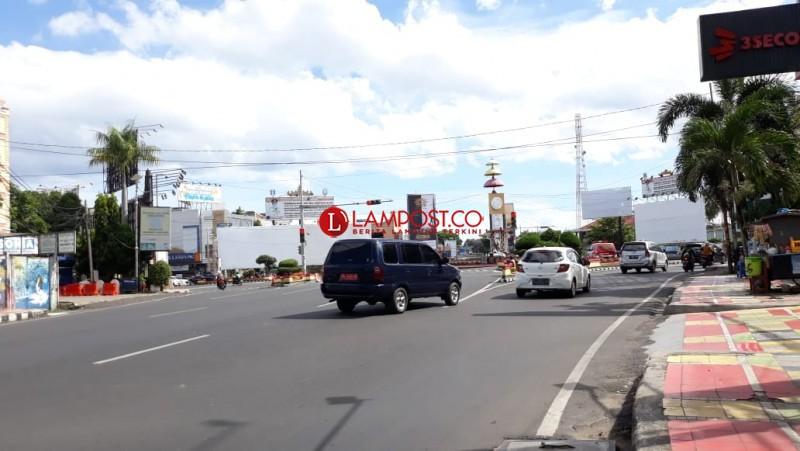 Hari Pencoblosan, Jalan Kota Bandar Lampung Lengang
