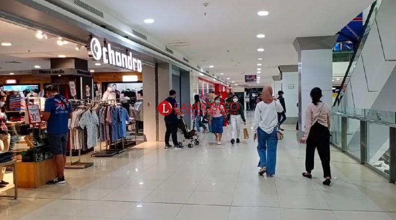 Hari Pertama Lebaran, Mal di Bandar Lampung Lengang