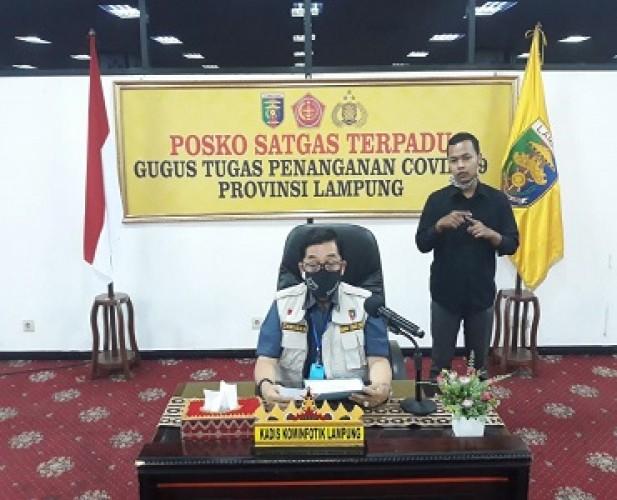 Hasil Pemeriksaan Specimen Covid-19 di Lampung Capai 3.119 Sampel