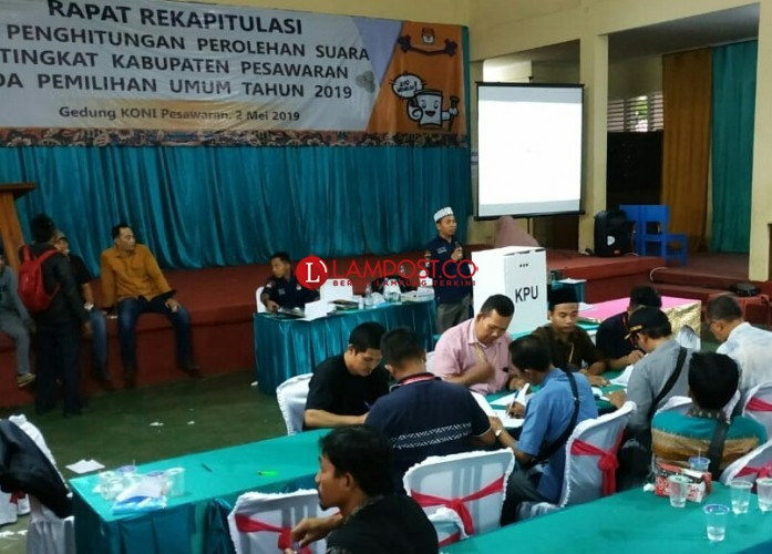 Hasil Pleno KPU Pesawaran Jokowi-Ma'ruf Amin Unggul