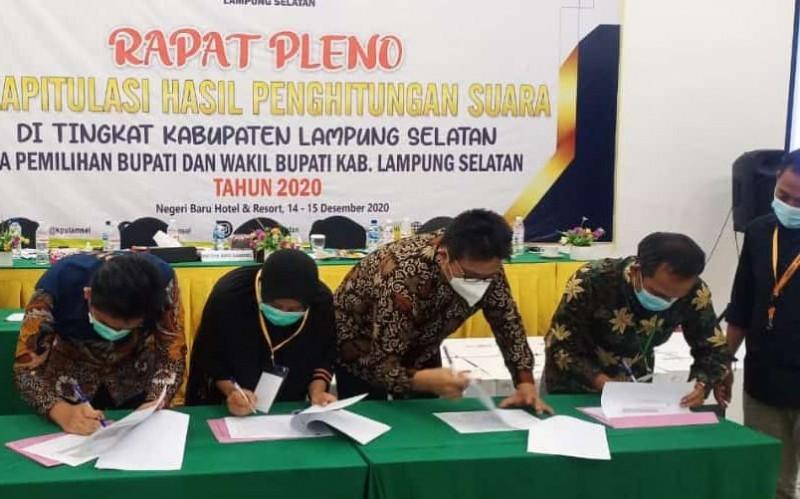 Hasil Rekapitulasi Pilkada Lamsel, Nanang-Pandu Raih Suara Terbanyak