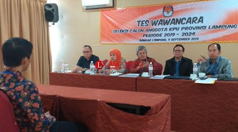 Hasil Tes Wawancara Calon Anggota KPU Lampung 11 September