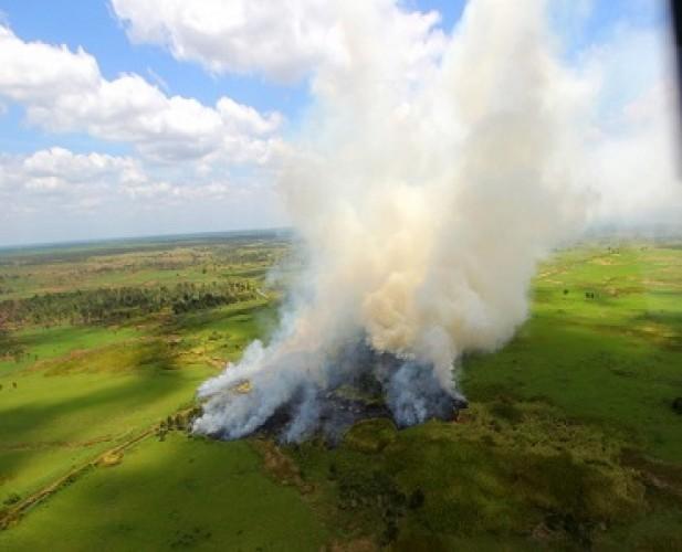 Helikopter<i>Water Bombing</i>Ditarik dari Riau
