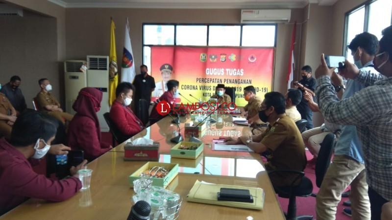 Herman HN Terima Perwakilan Pedemo UU Omnibus Law