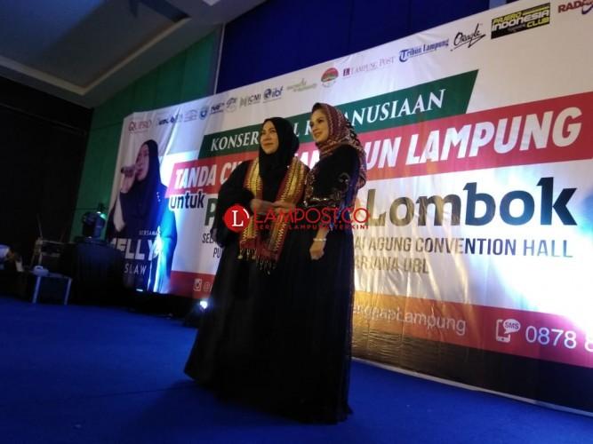 Hibur Konser Amal Kemanusiaan, Melly Goeslaw Ajak Masyarakat Lampung Komitmen Berdonasi untuk Palestina dan Lombok