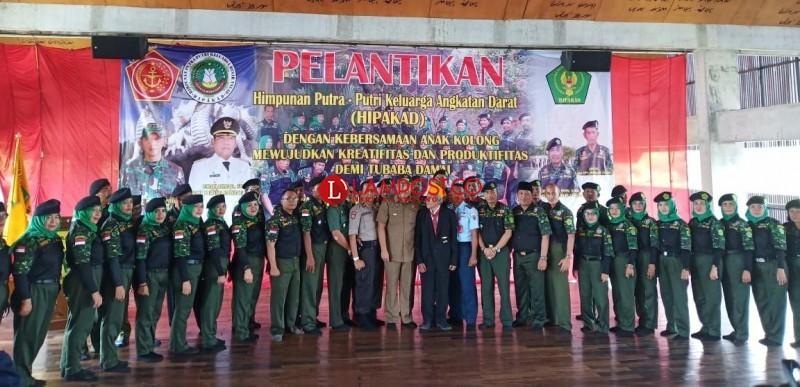 Himpunan Putra Putri Keluarga Angkatan Darat Tubaba Dilantik
