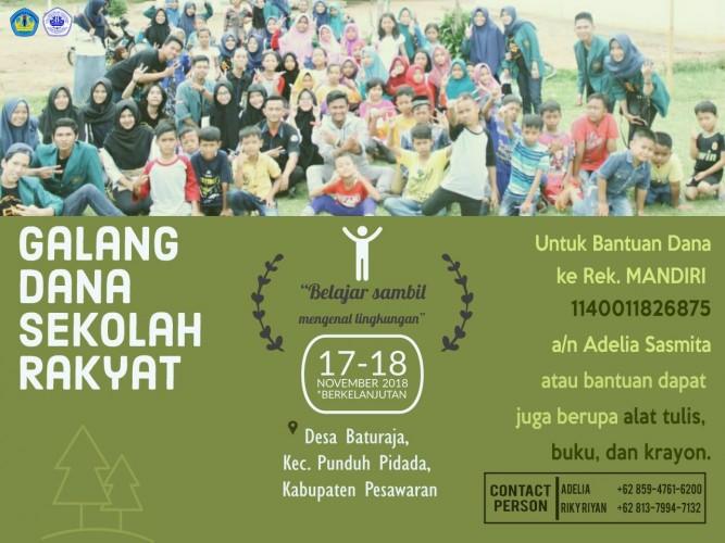 HMJ Sosiologi Gelar Sekolah Rakyat di Punduh Pidada,  Bisa Donasi Loh