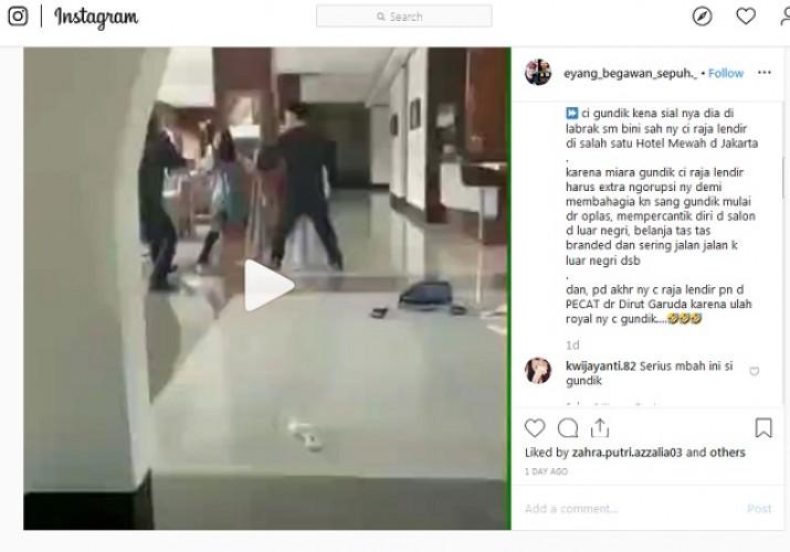 Hoaks, Istri Labrak Simpanan Dirut Garuda di Hotel