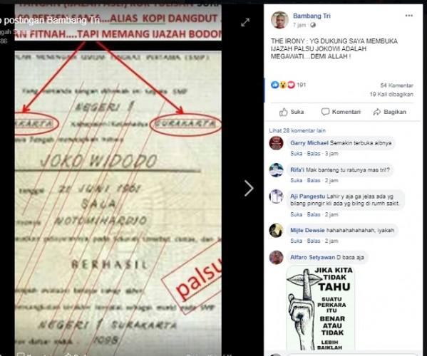 Hoaks, Megawati Membusukkan KPU dan Ingin Membongkar Ijazah Palsu Jokowi