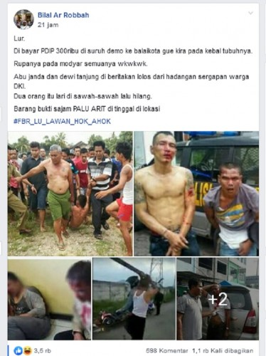 Hoaks, PDIP Bayar Demonstran Rp300 Ribu untuk Lengserkan Anies