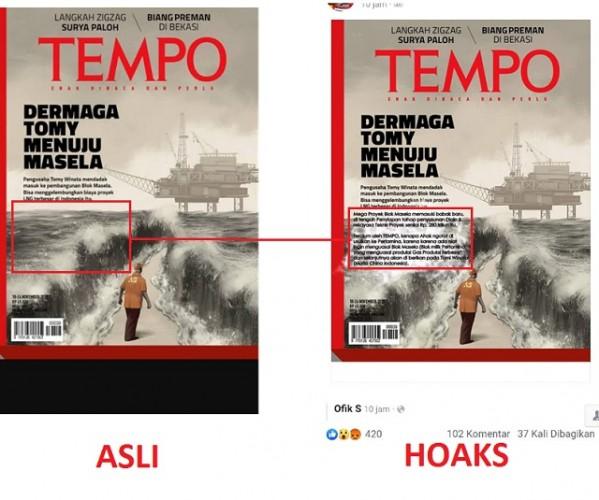 [HOAKS] Sampul Majalah TEMPO Sebut Ahok Masuk Pertamina untuk Kuasai Blok Masela
