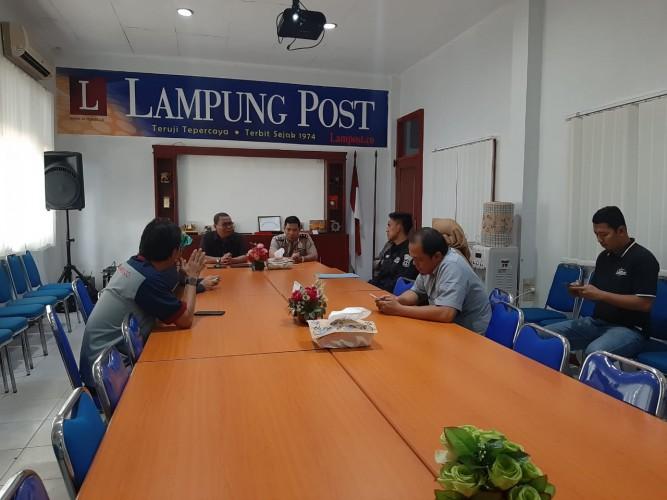 Humas Polda Lampung Sambangi Lampung Post