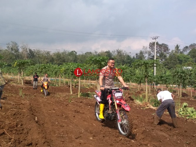 HUT Bhayangkara, Polres Pesawaran Gelar Lomba Motor Trail