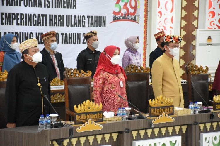 HUT Ke-339 Bandar Lampung, Eva Ajak Semua Tumpas Covid-19