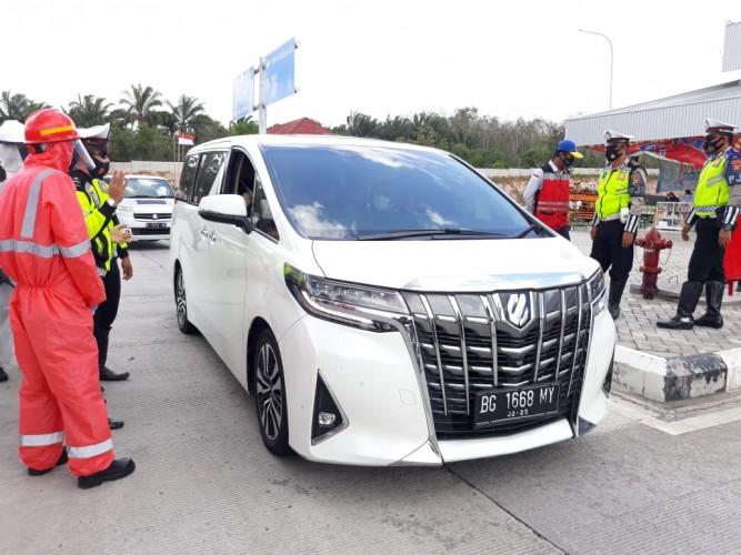 Hutama Karya Perketat Protokol Kesehatan di Pintu Masuk Lampung-Sumsel