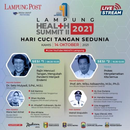 <i>Lampung Health Summit 2021</i> Ungkap Pentingnya Mencuci Tangan di Masa Pandemi Covid-19