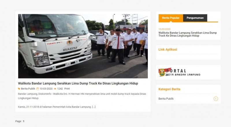 <i>Website</i> OPD di Bandar Lampung Banyak yang Menganggur