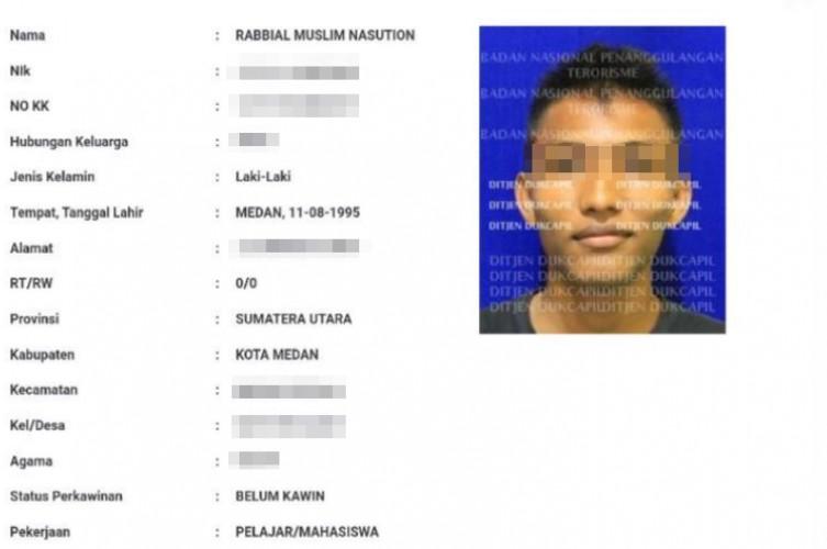Identitas Pelaku Bom Bunuh Diri di Medan Terungkap