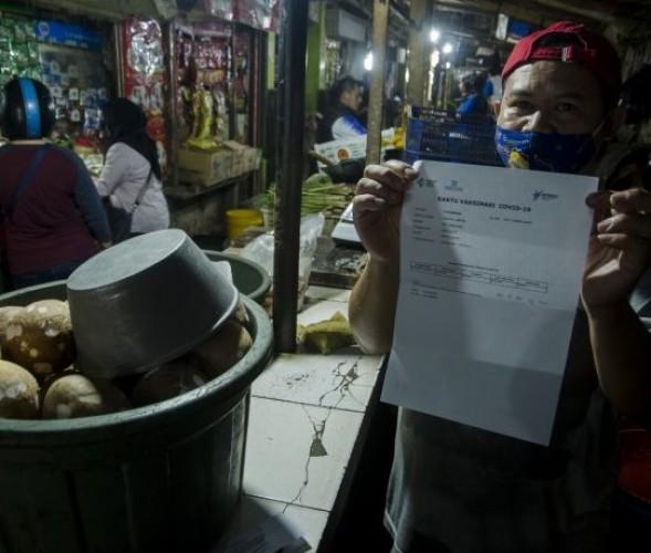 IDI Lampung: Banyak Pedagang tak Ikut Vaksinasi karena Sibuk di Pasar