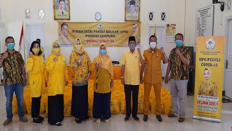 IIPG Lampung Peduli Covid-19 Bantu 600 Paket Sembako ke Lamtim