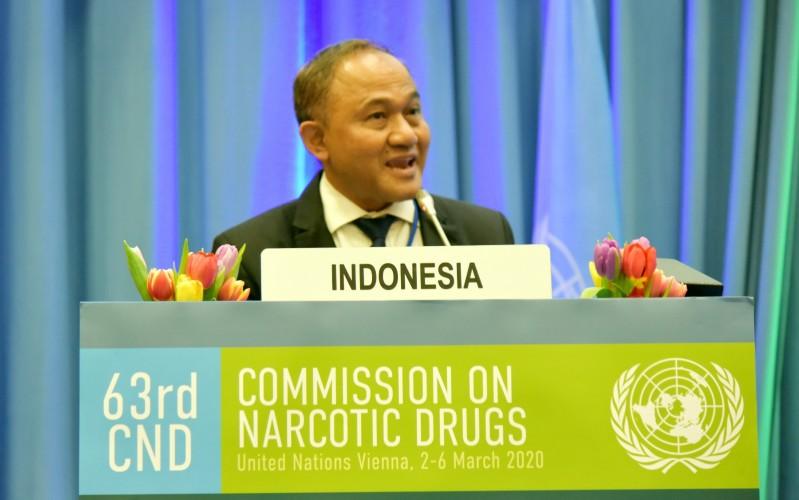 Indonesia Tegaskan Komitmen Perangi Narkoba di Forum PBB