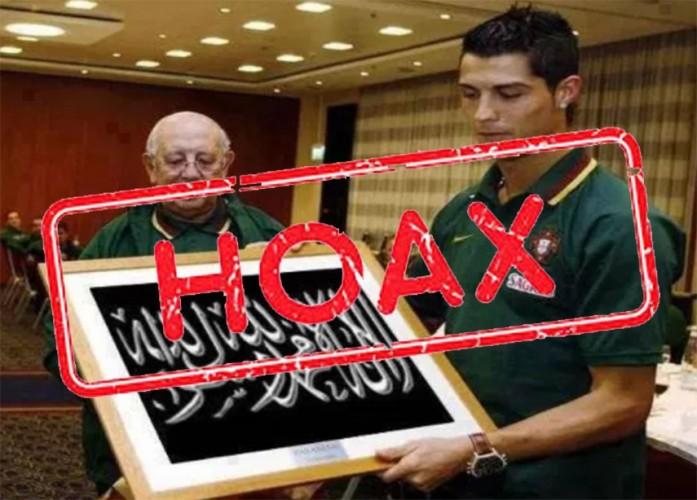 Informasi Ronaldo Menyumbang Rp21,7 Miliar untuk Palestina Menyesatkan